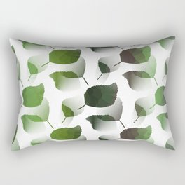 Tumbling Green Leaves Rectangular Pillow