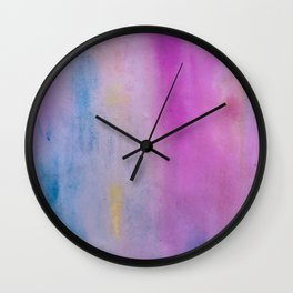 Gold and Lavender Wall Clock