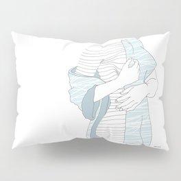 line drawing of a beautiful model Pillow Sham