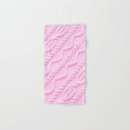 Light Pink Cableknit Sweater Hand & Bath Towel