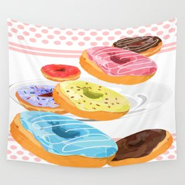 Donuts Wall Tapestry