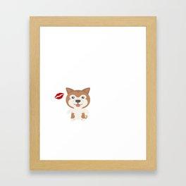 I Kissed An Akita And I Liked It Cute Dog Kiss Gift Idea Framed Art Print