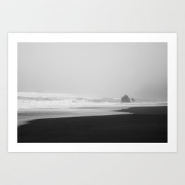 Foggy Beach Art Print