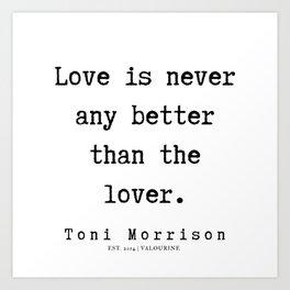 71      Toni Morrison Quotes   190807 Art Print