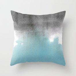 Merge Blue Throw Pillow