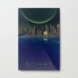 Planet Exploration: Sciyat Metal Print