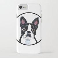 boston terrier iPhone & iPod Cases featuring Boston Terrier  by Lorraine Stylianou