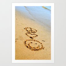Peace Love and Happiness Art Print