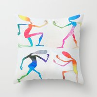 asexual Throw Pillows featuring Human Transitioning by aalexhayes