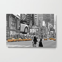 NYC Yellow Cabs Times Square - USA Metal Print