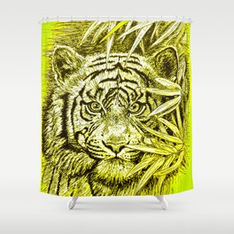 tiger - king of the jungle Shower Curtain