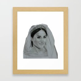 Meghan Markle Framed Art Print