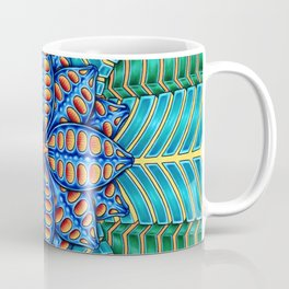 Trippy Flower Design Coffee Mug