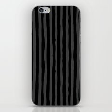 Black and Grey Stripe iPhone Skin