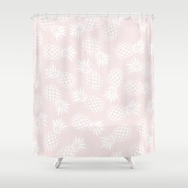 Pineapple pattern on pink 022 Shower Curtain