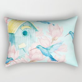 Sweet Summer (Hummingbird Paradise) Rectangular Pillow
