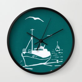 Comrades in Turquoise Wall Clock