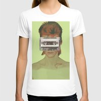 aladdin T-shirts featuring Taped Over Aladdin Sane by AudioVisuals