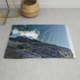 Ocean Cliff Side in the Cayman Islands Rug