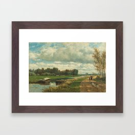 Landscape in the Environs of The Hague - Willem Roelofs (I) (1870-1875) Framed Art Print