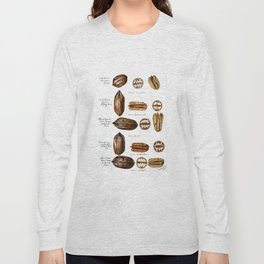 Nuts - Fruit Illustration Long Sleeve T-shirt
