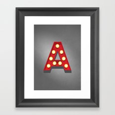 A - Theatre Marquee Letter Framed Art Print