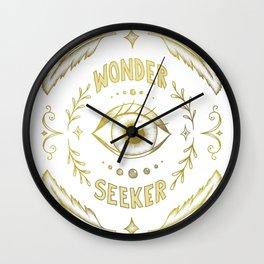 Wonder Seeker Wall Clock