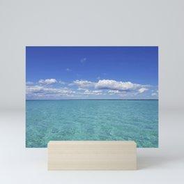 caribbean sea Mini Art Print