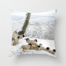 Sheltering Flock Throw Pillow