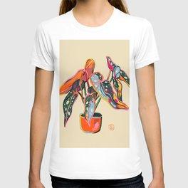 COLOURFUL BEGONIA PLANT  T-shirt