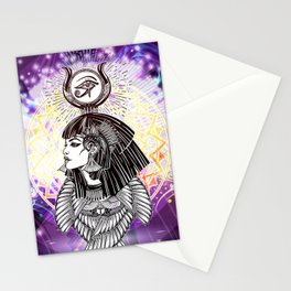 Goddess Isis and the Reigning Light Stationery Cards