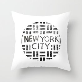 new york city typography illustration Throw Pillow