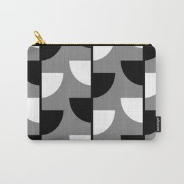 Climbing High - Black & White on Grey - Slices Series Carry-All Pouch