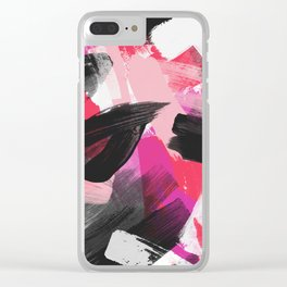 Mara Abstract Clear iPhone Case