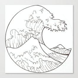 The wave of Kanagawa Canvas Print