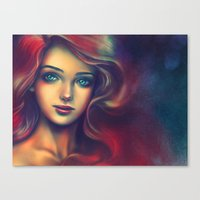 under the sea Canvas Prints featuring Under the Sea by Alice X. Zhang