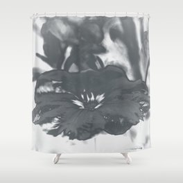 Bloom in Platinum Tone Shower Curtain