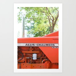 Allis - Chalmers Vintage Tractor Art Print