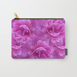 Purple Peony Flower Bouquet #1 #floral #decor #art #society6 Carry-All Pouch