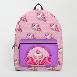 """""""Strawberry ice cream for the boy and the girl"""" Backpack"""
