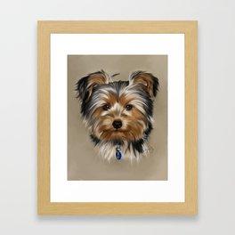 Yorkshire Terrier Painting Portrait Framed Art Print
