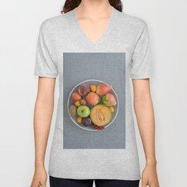 Fruits on a plate Unisex V-Neck