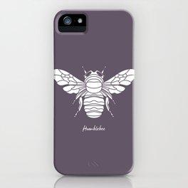 Humblebee White on Purple Background iPhone Case