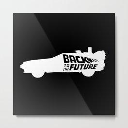 Back To The Future, DeLorean, 30th anniversary, 1985-2015, white Metal Print
