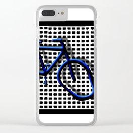 Bike blue Clear iPhone Case