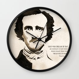 Poe Dream by Day Wall Clock