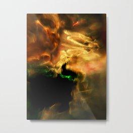 Molten Glow Metal Print