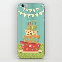 Happy Birthday Bunting Crazy Fun Cake iPhone Skin
