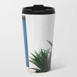 blue door Metal Travel Mug