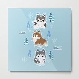 husky x winter Metal Print